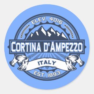 Cortina d'Ampezzo Logo Round Sticker