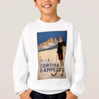 Cortina d'Ampezzo Vintage Travel Poster Art Sweatshirt