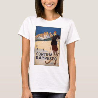 Cortina d'Ampezzo Vintage Travel Poster Art T-Shirt