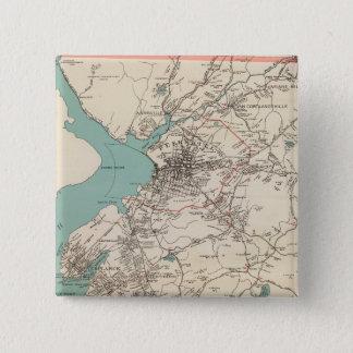 Cortlandt town 15 cm square badge