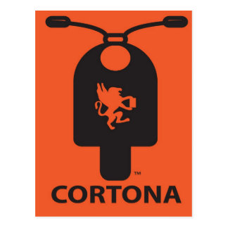 Cortona Scooter Postcard