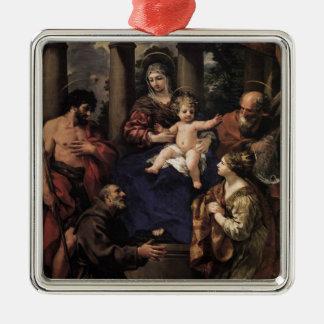 Cortona: Virgin & Child with Saints Christmas Ornament