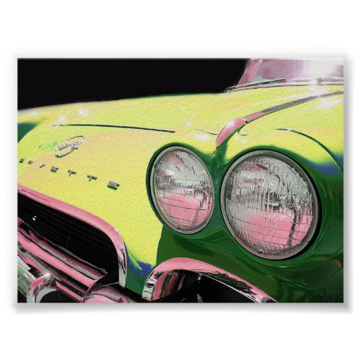 """Corvette. """"Beautiful print for your wall."""""""