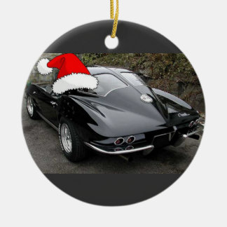 Corvette Black Split Window/Christmas Christmas Ornament