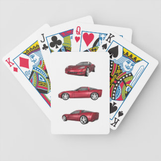 Corvette: Candy Apple Finish Bicycle Playing Cards