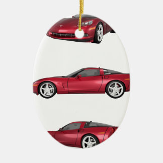 Corvette: Candy Apple Finish Christmas Ornament