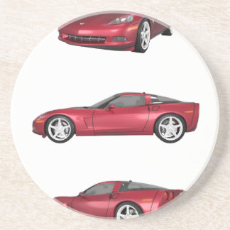 Corvette: Candy Apple Finish Drink Coasters