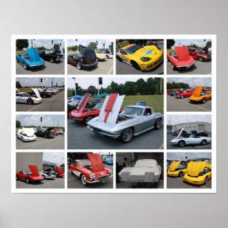 Corvette Collage Print - Poster