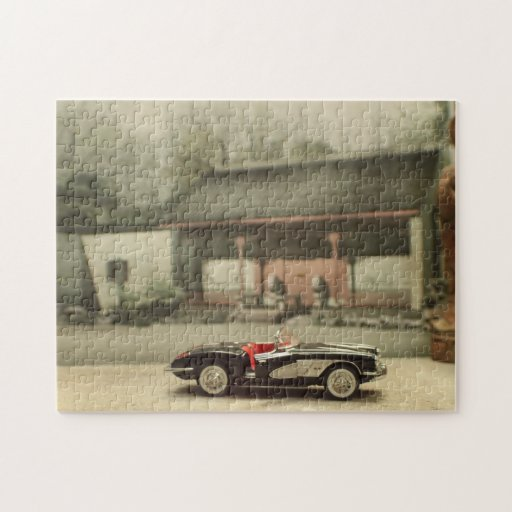 Corvette In Asian Courtyard Puzzle