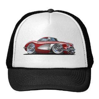 Corvette Maroon Car Cap