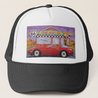 corvette paintings 005 trucker hat