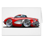 Corvette Red Car Greeting Cards