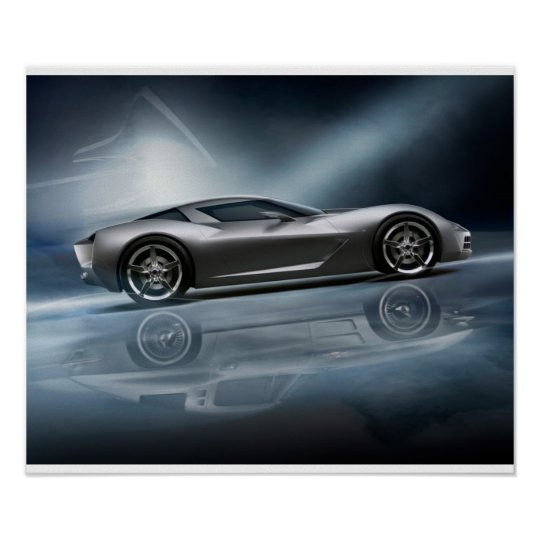 Corvette Stingray Concept Poster