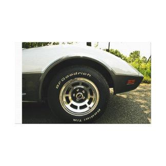 Corvette Wheel Stretched Canvas Prints
