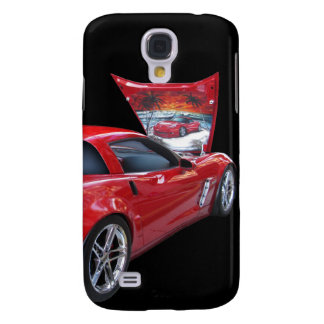 Corvette with Airbrush Galaxy S4 Case