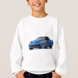 Corvette ZR1 Blue Car Sweatshirt