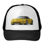 Corvette ZR1 Yellow Car Hats