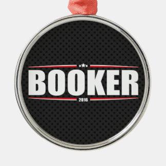 Cory Booker 2016 (Stars & Stripes - Black) Silver-Colored Round Decoration
