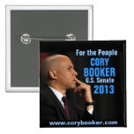 Cory Booker for Senate Pinback Buttons