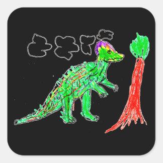 Corythosaurus Square Sticker