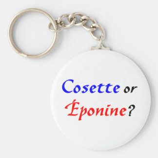 Cosette Les Miserables Basic Round Button Key Ring