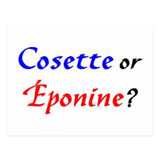 Cosette Les Miserables Postcard