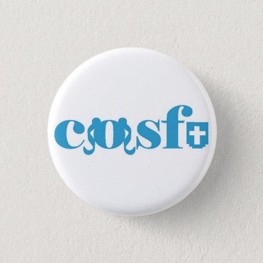 Cosfu - Plain white logo 3 Cm Round Badge