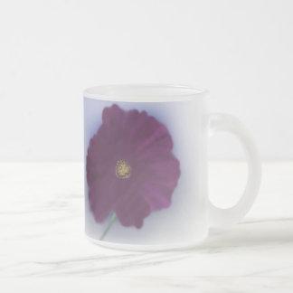 Cosmea Frosted Glass Mug