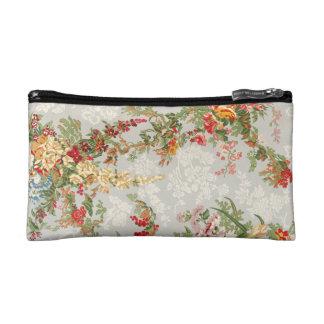 Cosmetic Bag a vintage floral  illustration