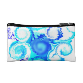 Cosmetic Bag Blue Swirls