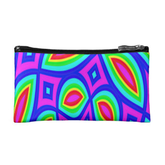 Cosmetic Bag. Coloured Geometric Abstract. Makeup Bag