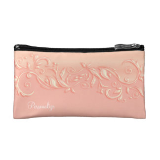 Cosmetic Bag - Elegant Summer Peach