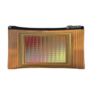 Cosmetic Bag. Gold effect Squares & Frame Makeup Bag