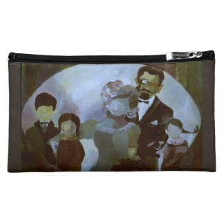 Cosmetic Bag - Painting 'Family Portrait' Original