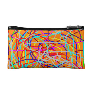COSMETIC BAG. WILD ABSTRACT. MAKEUP BAG