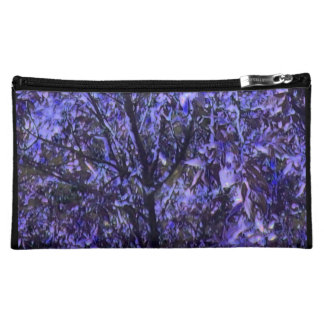 Cosmetic Bag with Digital Art Image 'Purple Trees'