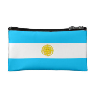 Cosmetic Bag with flag of Argentina