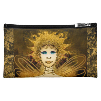 Cosmetic Bag with Gold-Yellow Art Déco Style Fairy