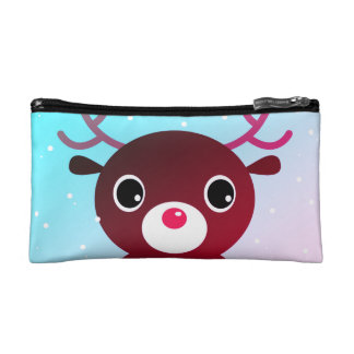 Cosmetic bag with Kawaii reindeer