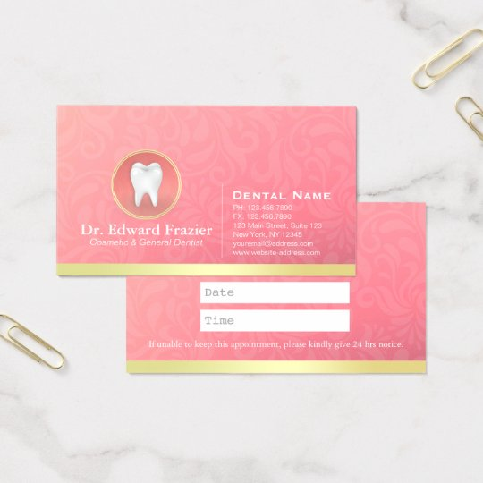 Cosmetic & General Dentist Appointment Gold & Pink