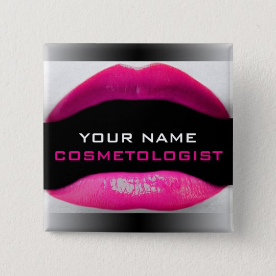 Cosmetic Name Badge Button