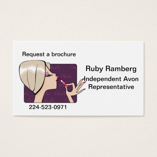 Cosmetic Representative Business Cards