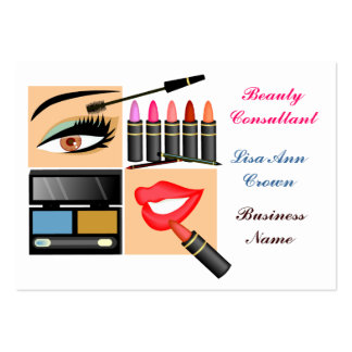 Cosmetic Sales Person Business Card