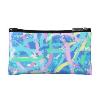 Cosmetics bag - Seaweed Design in Sunlit Bubbles