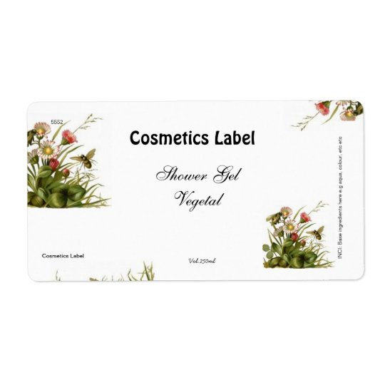 Cosmetics label shipping label