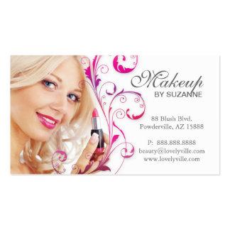 Cosmetologist Business Card Lipstick Red Purple