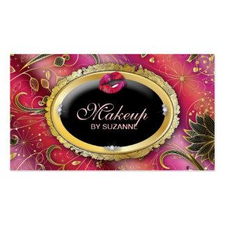 Cosmetologist Business Card Makeup Flower