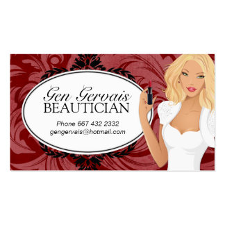 Cosmetologist Business Card Template