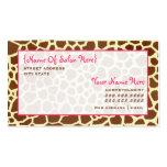 Cosmetologist Salon Appointment Giraffe Print