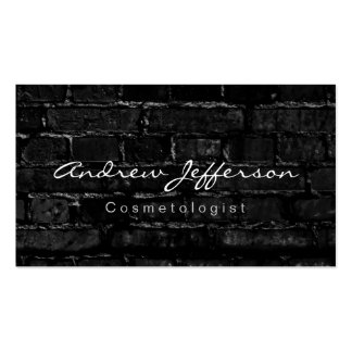 Cosmetologist Wall Brick Calligraphy Business Card